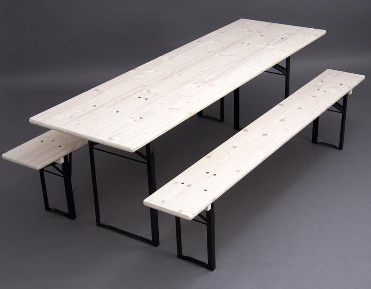 bierzeltgarnituren ohne lehne in brauereiqualit t kaufen. Black Bedroom Furniture Sets. Home Design Ideas