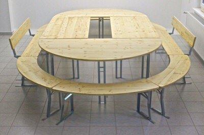 runde biertischgarnituren 120cm bis 200cm tischgr e. Black Bedroom Furniture Sets. Home Design Ideas
