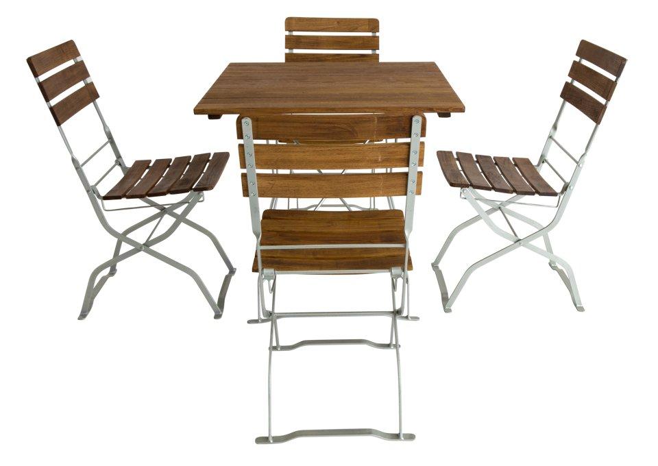 Sitzgruppe Biergartenmöbel und quadratischem Tisch kaufen